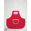 Kötény piros pöttyös ÉDESANYÁMNAK hímzett felirattal 60 cm