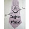 Nyakkendő Legjobb Főnök felirattal