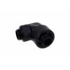 AlphaCool Eiszapfen 16 / 10mm szorítógyûrûs csatlakozó 90 ° forgatható G1 / 4 - Deep Black