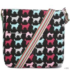 L1104NDG - Miss Lulu London szögletes táska Dog fekete