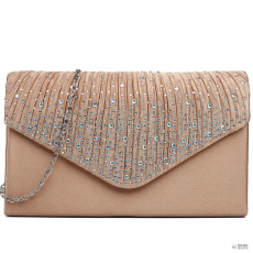 Champ LY1682 - Miss Lulu London Structupirosgyémánt pöttyded Envelope Táska Clutch táska Champagne