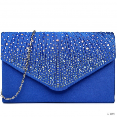 LY1682 - Miss Lulu London Structupirosgyémánt pöttyded Envelope Táska Clutch táska Navy