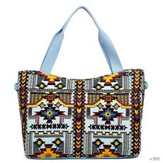 L1515-1CN - Miss Lulu London vonatdi Mayan bevásárló táska táska kék