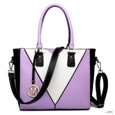 LG1641 - Miss Lulu London V-alak válltáska kézi táska lila