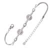 Ezüst karkötő cirkóniával (ES1212)