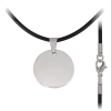 Kaucsuk nyaklánc nemesacél medállal (ES1151P)