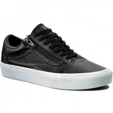 Vans Félcipő VANS - Old Skool Zip VN00018GDJ6 (Perf Leather) Black