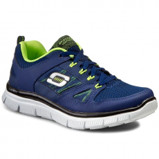 Skechers Félcipő SKECHERS - Flex Advantage 95521L/NVYL Navy/Yellow