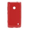 Nokia Lumia 520, TPU szilikon tok, korallpiros