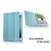 Apple iPad Air tok (Book Case) - Kalaideng Iceland Series - turquoise blue