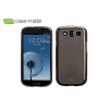 Samsung i9300 Galaxy S3 hátlap, Case-Mate Barely There Brushed Aluminium, silver