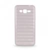 Samsung Galaxy S5 SM-G900, TPU szilikon tok, 3D csíkos minta, szürke