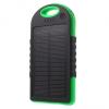 Napelemes töltő + külső akkumulátor, csepp- és porálló, 5V, 8000 mAh, Okostelefonhoz és TabletPC-hez, fekete/zöld