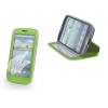 LG L80 D380, oldalra nyíló tok, stand, Smart View, zöld