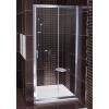 Ravak Blix BLDP2-100 toló rendszeru, kétrészes zuhanyajtó fényes alumínium kerettel, grapeedzett biztonságiüveg betéttel