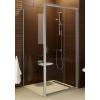 Ravak Blix BLDP2-120 toló rendszeru, kétrészes zuhanyajtó szatén kerettel, grape edzett biztonságiüveg betéttel