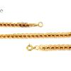 Ovális lapokból álló arany nyaklánc