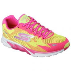 Skechers Go Run 4 2016 női sportcipő, Lime/Hot Pink, 39 (13996-LMHP-39)