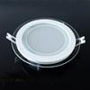 Üveg keretes LED panel (kör) - 18 Watt - meleg fényű