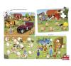 Learning Resources 4 db összeillő puzzle - farm puzzle, kirakós