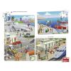 Learning Resources 4 db összeillő puzzle - város