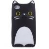 Huawei P8, TPU szilikon tok, 3D cica minta, fekete