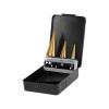 Extol lépcsős fémfúró klt, 3db; (4-12mm/1mm lépcsők,4-20mm/2mm,4-32mm/2mm) befogás:10mm, max.4mm vastag anyagokhoz,TiN bevonat