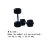 m-tech (H) XDB-6101 Egykezes fix kézisúlyzó, hatszögletű, krómozott, gumborítású 30kg kézisúlyzó