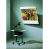 Dönthető és forgatható fali vetítővászon, 130 x 130 cm, forgáspont balra