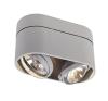 Schrack Technik KARDAMOD SURFACE ROUND QRB DOUBLE, ezüstszürke, G53,max.2x75W- LI117194 világítás