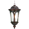 SEARCHLIGHT 5184BR,1LT OUTDOOR PENDANT, BROWN, CLEAR GLASS