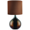 SEARCHLIGHT EU3520BR CHOCOLATE BROWN BASE TABLE LAMP, DRUM SHADE