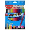 """MAPED Színes ceruza készlet, háromszögletű, MAPED """"Color\´Peps"""", 36 különböző szín"""