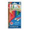 """STAEDTLER Színes ceruza készlet, hatszögletű, ajándék grafitceruzával, STAEDTLER """"Noris Club"""", 12 különböző szín"""
