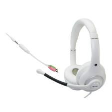 """SANDBERG Fejhallgató, mikrofonnal, SANDBERG """"Plug\´n Talk"""", fehér headset & mikrofon"""