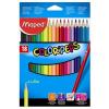 """MAPED Színes ceruza készlet, háromszögletű, MAPED """"Color\´Peps"""", 18 különböző szín"""