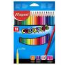 """MAPED Színes ceruza készlet, háromszögletű, MAPED """"Color\´Peps"""", 18 különböző szín színes ceruza"""