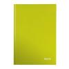 """Leitz Beíró, A4, kockás, 80 lap, keményfedeles, lakkfényű, LEITZ """"Wow"""", zöld"""
