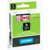 """DYMO Feliratozógép szalag, 19 mm x 7 m, DYMO """"D1"""", fehér-piros"""