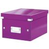 """Leitz Irattároló doboz, A5, lakkfényű, LEITZ """"Click&Store"""", lila"""