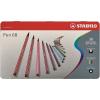 """STABILO Rostirón készlet, 1 mm, fém doboz, STABILO """"Pen 68"""", 30 különböző szín"""
