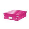 """Leitz Tárolódoboz, rendszerező, laminált karton, M méret, LEITZ """"Click&Store"""", rózsaszín"""