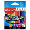 """MAPED Színes ceruza készlet, háromszögletű, MAPED """"Color\´Peps Mini"""", 12 különböző szín"""