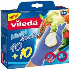 """Vileda Gumikesztyű, S/M méret, VILEDA """"Multi Sensitive"""""""