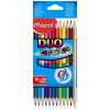 """MAPED Színes ceruza készlet, kétvégű, háromszögletű, MAPED """"Color\´Peps Duo"""", 24 különböző szín"""
