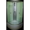 Aqualife Opal 509 C fehér hátfalas zuhanykabin mély tálcával, 90x90 cm-es méretben tető nélkül