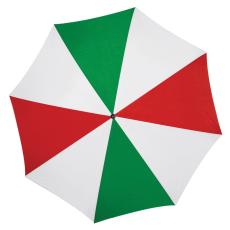 Favázas automata esernyõ, zöld/piros (Favázas automata esernyõ hajlított fa fogantyúval és fa)