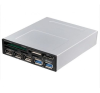 Akasa CARD READER AKASA AK-ICR-17 USB3.0 with eSata + USB panel 3,5