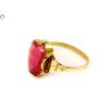 Rózsaszín köves arany gyűrű