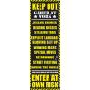 Keep Out ajtóposzter